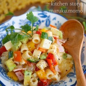 自家製レモンドレッシング★スプーンで食べる♪ビタミンカラーのデリ風サラダ