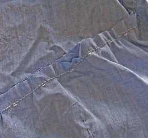 服の色を直す ソフトが使えなくなった ショック。 折り伏せ縫い詳細説明つき。