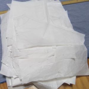 ワンピの型紙整理。