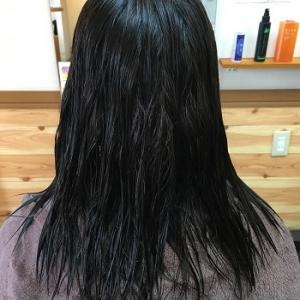 女子大生の酸性縮毛矯正。