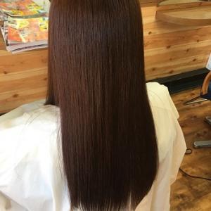 小麦粉カラー+αで明るい白髪染め。