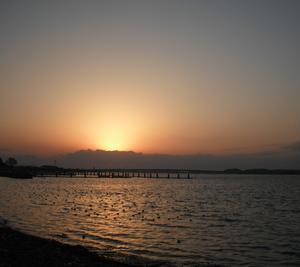 はまゆう大橋の夕日