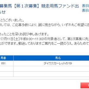 ダイワスカーレット19 申込結果は!!