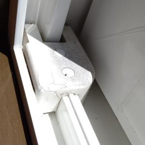 窓の戸当たり交換