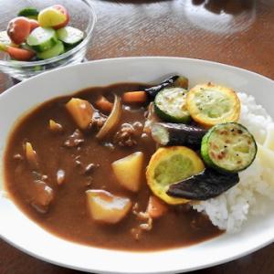 焼き夏野菜のせカレー ♡