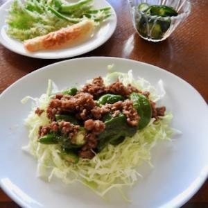 今日の晩ご飯は、万願寺とひき肉の甘辛炒め ♡