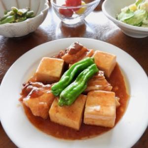 今日の晩ご飯は、フラバラとお豆腐の煮物 ♡