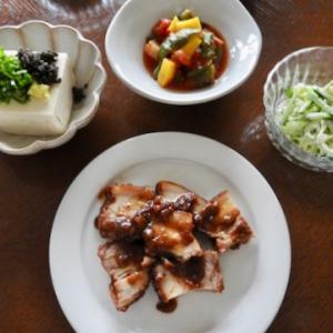 今日の晩ご飯は、有り難いレンチンするだけの角煮 ♡