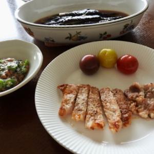 今日の晩ご飯は、豚肉のソテー ♡