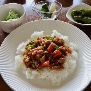 今日の晩ご飯は、夏野菜のキーマカレー ♡