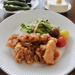 今日の晩ご飯は、鶏マヨ ♡