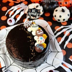 ハロウィンケーキ かぼちゃムースとココアスポンジ