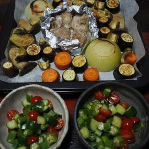 ゴーヤ、焼いてみました・いろいろ野菜のオーブン焼き