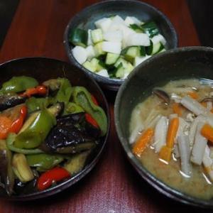 夏と秋が混在する季節・きのこと根菜の味噌汁
