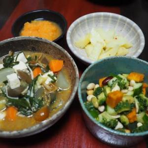 もちろんなすも入ってます・今ある野菜でごま担々鍋味スープ