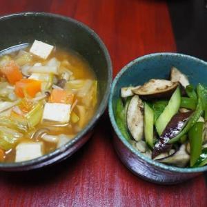 ねぎたっぷり(いっぱい頂いたので)・キムチ鍋味スープ