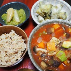 芋の食感の違いが楽しい・さつま芋と長芋の胡麻味噌和え
