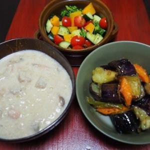 食物繊維多め・根菜ときのこの味噌豆乳クリームシチュー