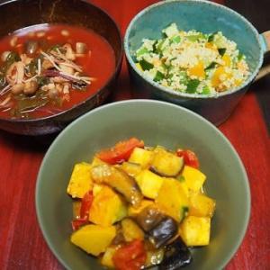 元気いっぱいな夏の野菜で・夏の野菜のカレー炒め