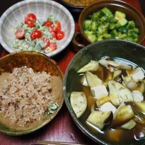 生姜多めがポイント・なすときのこと豆腐の煮びたし