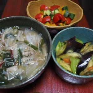 夏の定番・なすピーポン酢炒め