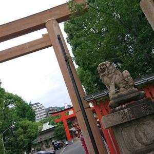 生田神社におまいり   涼しげな手水でした