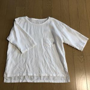 ホワイトリネンでイージースタイルシャツ☆ハンドメイド