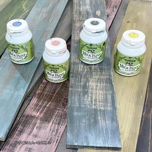新品の板を古材風に塗装&レトロな扇風機で多肉の蒸れ対策( ˙◊︎˙◞︎)◞︎
