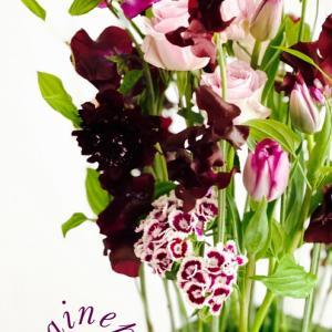 春のフリフリのお花を使って