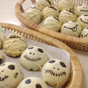 ハロウィンロール&かぼちゃパン&芋ようかん 2回目
