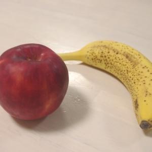 林檎とバナナのケーキ