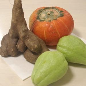 渋柿と野菜
