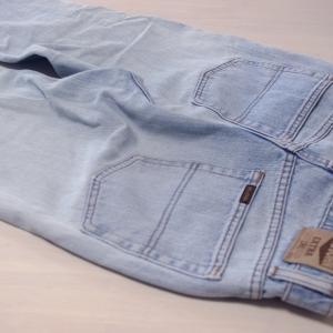 古ぼけたジーンズをリメイク