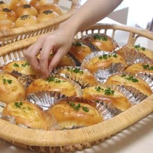 マヨネーズパン&あんぱん&桜餅