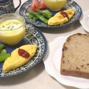 レーズンツイストで朝食・・とコーヒーゼリー