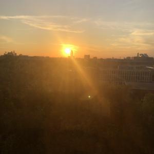 夕陽か朝陽かわからないけど
