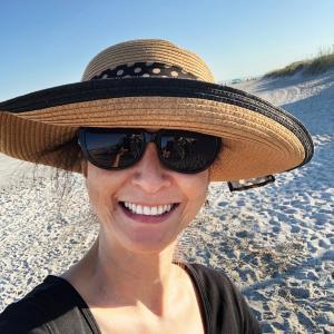 週末はビーチへ行った
