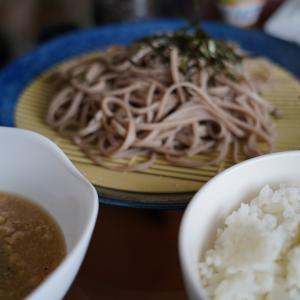 納豆とろろそば ~ニトリのザルとお皿~