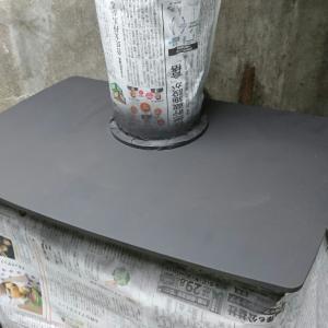 薪ストーブの天板塗装