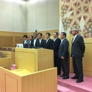 相馬市議会議会運営委員会の皆さんが成田市視察に