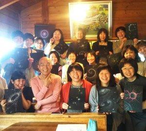 2020年11月6日〜11日☆秋山峰男さんの点描画WS、個人セッション等開催☆八ヶ岳、長野県原村