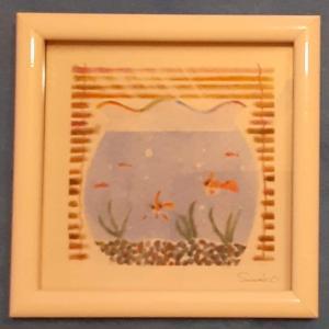 『金魚鉢と簾』『薔薇』パステル和アートブラッシュアップレッスンでした!