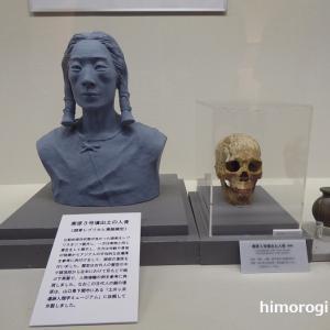 この台地に住んでいた古代人の顔が復元されていた 寒原3号墳