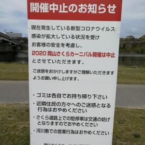 岡山さくらカーニバルは中止