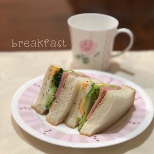 朝食・・・今朝はトーストしていません