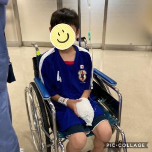 左手の骨折、その後無事に退院にしました