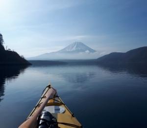 本栖湖と西湖漕ぎ