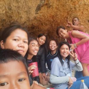 フィリピン プエルトガレラ ビーチで幸せな休日に感謝♡