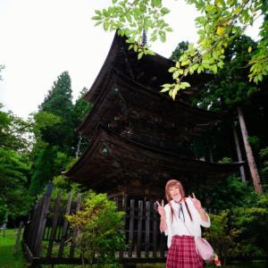 重要文化財の三重塔とワタシ(^v^)