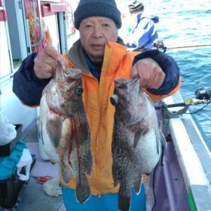 第十五隆栄丸で大型マゾイが大漁でしたよー♬